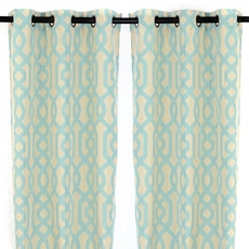Teal Grommet Gatehill Curtain Panel, Set of 2 at Kirkland's