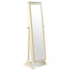 Wood Buttermilk Jewelry Armoire Mirror at Kirkland's