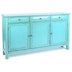 Antiqued Turquoise 3-Door Cabinet at Kirkland's