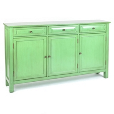 Antiqued Green 3-Door Cabinet at Kirkland's