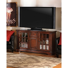 Wood Brown 3-Door Media Cabinet at Kirkland's