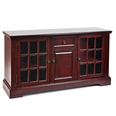 Wood Cherry 3-Door Media Cabinet at Kirkland's