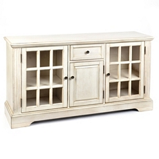 Wood Cream 3-Door Media Cabinet at Kirkland's