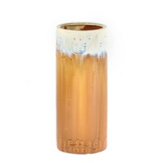Ceramic Amber Earth Column Vase at Kirkland's