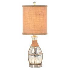 Silver Mercury Glass Rope Table Lamp at Kirkland's