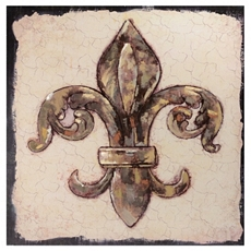 Gold Fleur-de-Lis Canvas Art Print at Kirkland's