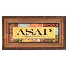 ASAP Framed Art Print at Kirkland's