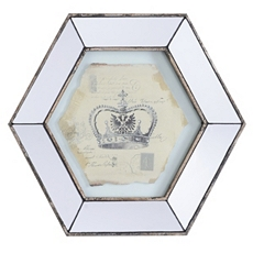 Vintage Crown I Mirror Framed Art Print at Kirkland's