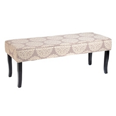 Tan Damask Heidi Bench at Kirkland's