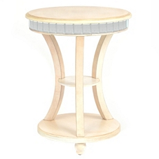 Mirror Cream Round Side Table at Kirkland's