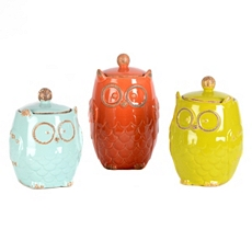 Owl Canister, Set of 3 at Kirkland's