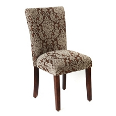 Brown Damask Parsons Chair at Kirkland's