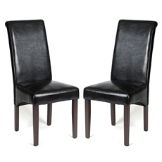 Black Faux Leather Parson, Set of 2 at Kirkland's