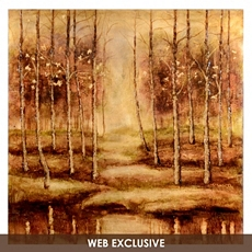 Birch Trees Canvas Art Painting at Kirkland's