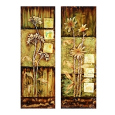 Rustica Flowers Canvas Art Print, Set of 2 at Kirkland's