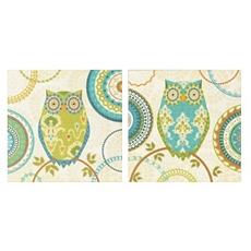 Owl Forest Canvas Art Print, Set of 2 at Kirkland's