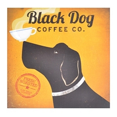 Black Dog Coffee Canvas Art Print at Kirkland's