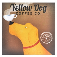 Golden Dog Coffee Canvas Art Print at Kirkland's