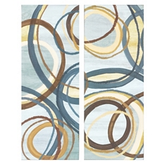 Blue Tuesday Canvas Art Print, Set of 2 at Kirkland's