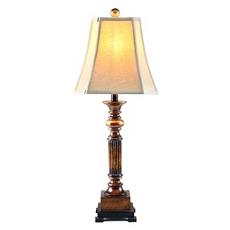 Bronze Resin Richard Table Lamp at Kirkland's