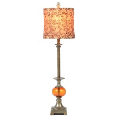 Amber Glass Buffet Lamp at Kirkland's