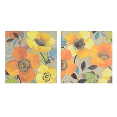 Orange Poppies Canvas Art Print, Set of 2 at Kirkland's