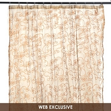 Chocolate Arabella Shower Curtain at Kirkland's