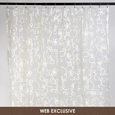 Ivory Arabella Shower Curtain at Kirkland's