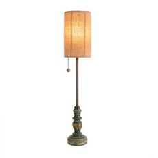 Rustic Turquoise Buffet Lamp at Kirkland's