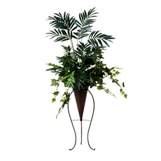Tropical Floor Plant with Stand at Kirkland's