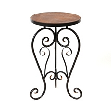 Scrolled Round Accent Table at Kirkland's