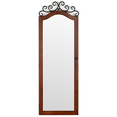 Woodtone Scroll Top Jewelry Armoire Mirror at Kirkland's