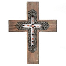 Wood Beaded Cross at Kirkland's