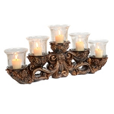 Bronze Clear Crackle 5-Candle Runner at Kirkland's