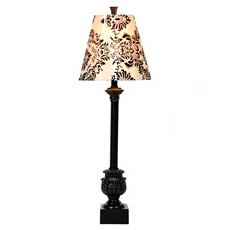 Black & White Damask Buffet Lamp at Kirkland's