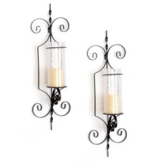Bristol Clear Crackle Sconce, Set of 2 at Kirkland's