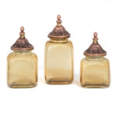 Amber Canister, Set of 3 at Kirkland's