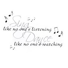 Sing & Dance Wall Decal at Kirkland's