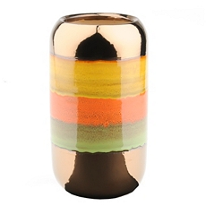Spice Metallic Stripe Vase at Kirkland's