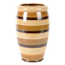Natural Stripe Ceramic Vase at Kirkland's
