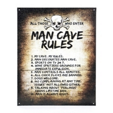Man Cave Rules Tin Plaque at Kirkland's