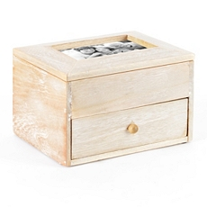Wood Picture Frame Jewelry Box with Drawer at Kirkland's