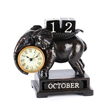 Elephant Calendar Desk Clock at Kirkland's