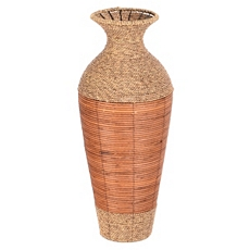 Seagrass & Rattan Floor Vase at Kirkland's