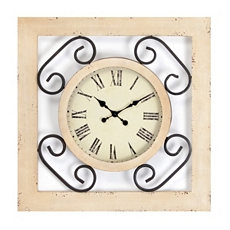 Sadie Wood & Metal Clock at Kirkland's