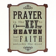 Prayer & Faith Tin Wall Plaque at Kirkland's