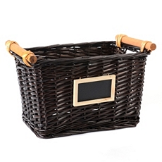 Brown Chalkboard Basket at Kirkland's