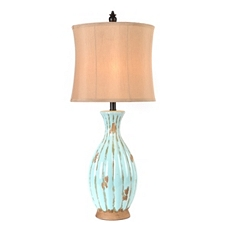 Blue Distressed Table Lamp at Kirkland's