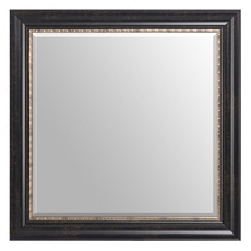 Gold Trimmed Espresso Mirror, 30x30 at Kirkland's