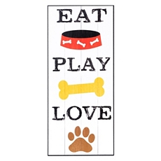 Eat Play Love Wall Plaque at Kirkland's